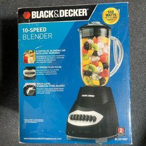 Black & Decker 10 Speed Black Blender